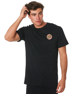 BLACK MENS CLOTHING SANTA CRUZ TEES - SC-MTC9265BLK