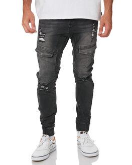 BROKEN BLACK MENS CLOTHING NENA AND PASADENA JEANS - NPMFP004BBLK