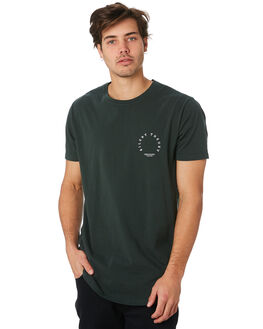 WASHED BLACK MENS CLOTHING SILENT THEORY TEES - 4034040.BGRN