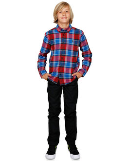 RACING RED KIDS BOYS DC SHOES TOPS - EDBWT03049-RQR0