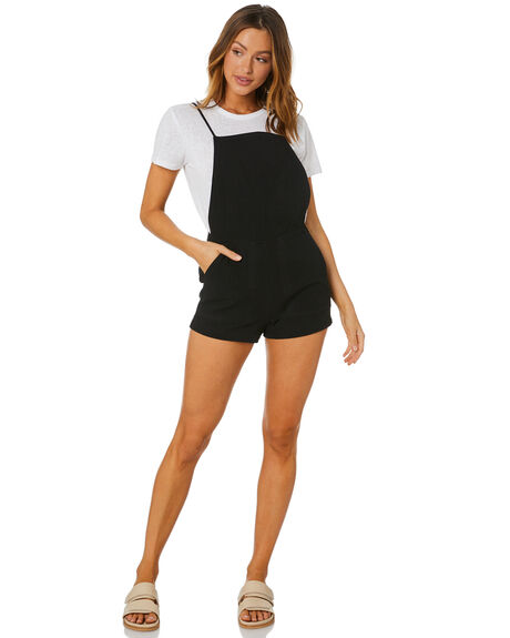 BLACK WOMENS CLOTHING RUSTY PLAYSUITS + OVERALLS - MCL0351BLK