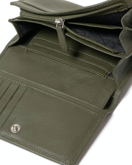 OLIVE WOMENS ACCESSORIES STITCH AND HIDE PURSES + WALLETS - WW_ELLIE_OLIVE