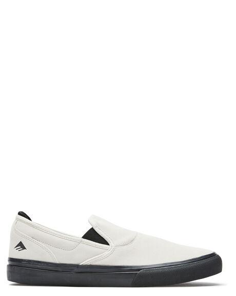 WHITE BLACK MENS FOOTWEAR EMERICA SNEAKERS - 6101000111110