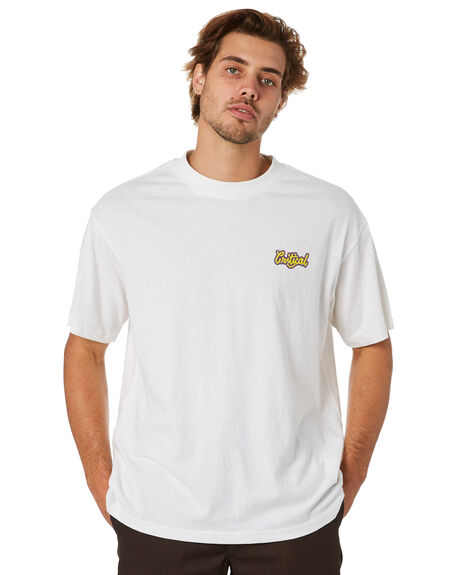 OFF WHITE MENS CLOTHING THE CRITICAL SLIDE SOCIETY TEES - TE18260OFWHT
