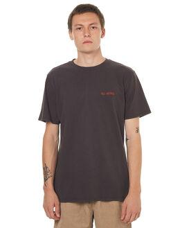 WASHED BLACK MENS CLOTHING NO NEWS TEES - N5171001WSHBK