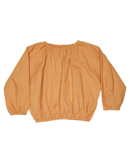 EARTHY CARAMEL KIDS TODDLER GIRLS ISLAND STATE CO TOPS - TULUMCRP-CRML