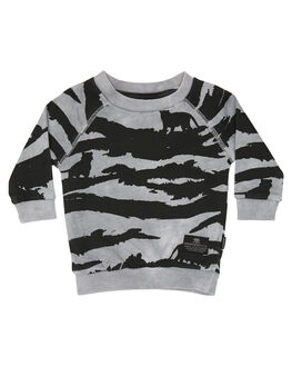 WASHED BLACK KIDS BABY MUNSTER KIDS CLOTHING - MI172FL01WBLK