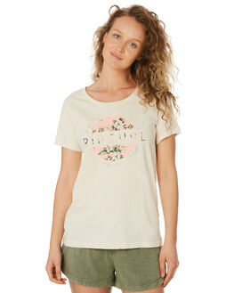 BEIGE WOMENS CLOTHING RIP CURL TEES - GTEBY20001