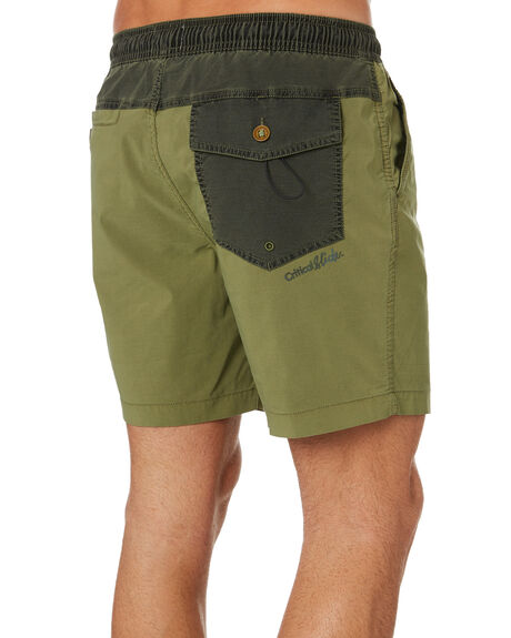OLIVE OUTLET MENS THE CRITICAL SLIDE SOCIETY BOARDSHORTS - BS1895OLI