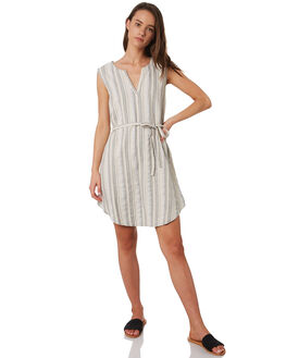 FEATHER GREY WOMENS CLOTHING RUSTY DRESSES - SCL0326GREY