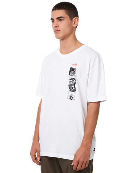 WHITE MENS CLOTHING GLOBE TEES - GB01830017WHT