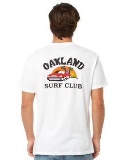 WHITE MENS CLOTHING OAKLAND SURF CLUB TEES - SP18-T1-WWHT