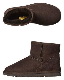 CHOCOLATE WOMENS FOOTWEAR UGG AUSTRALIA UGG BOOTS - SSMINCHOCW