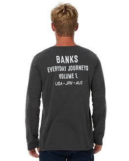 DIRTY BLACK MENS CLOTHING BANKS TEES - WLTS0017DBL