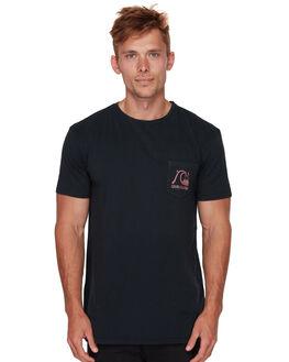 BLACK MENS CLOTHING QUIKSILVER TEES - EQYZT05164KVJ0