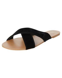 BLACK PONY WOMENS FOOTWEAR BILLINI SLIDES - S494BLKPN