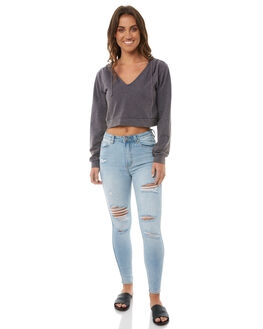 DUSTRY BLUE WOMENS CLOTHING SOMEDAYS LOVIN JUMPERS - IL18S1019DBLU