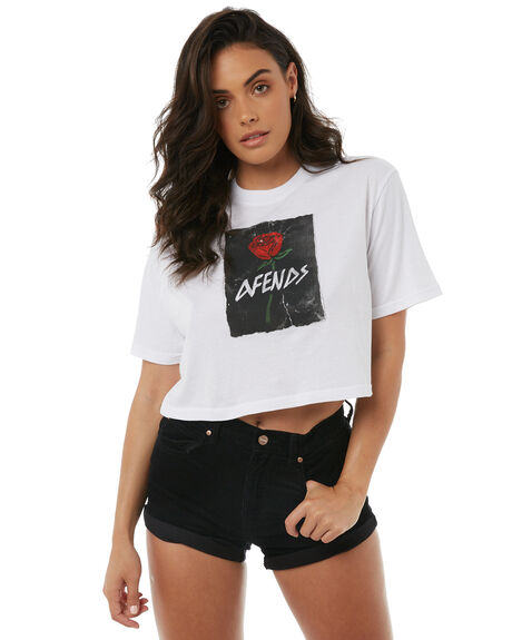 WHITE WOMENS CLOTHING AFENDS TEES - W181014WHT