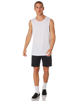WHITE MENS CLOTHING AS COLOUR SINGLETS - 5025WHT