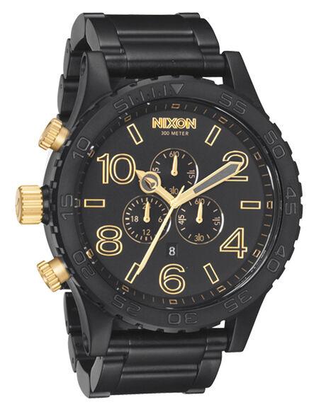 MATT BLACK GOLD MENS ACCESSORIES NIXON WATCHES - A0831041MBG