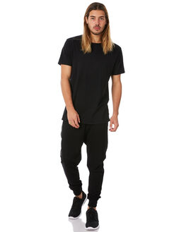 BLACK MENS CLOTHING RPM PANTS - 8WMB01ABLK