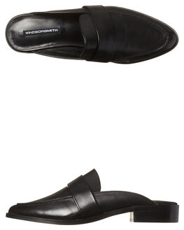 BLACK WOMENS FOOTWEAR WINDSOR SMITH FLATS - NEVEBLK