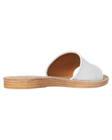 WHITE OUTLET WOMENS ROC BOOTS SLIDES - BAMBOOWHT