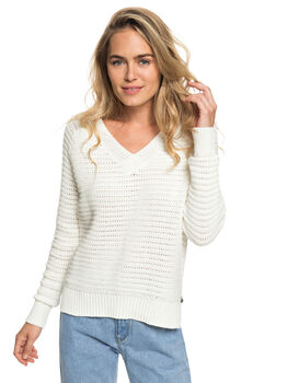 MARSHMALLOW WOMENS CLOTHING ROXY KNITS + CARDIGANS - ERJSW03324-WBT0