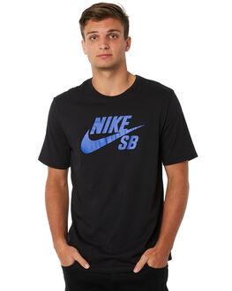 BLACK BLUE MENS CLOTHING NIKE TEES - 821946019