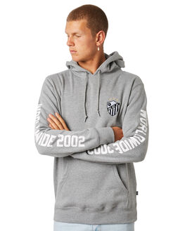 HEATHER GREY MENS CLOTHING HUF JUMPERS - PF00091-HTGRY