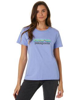 LIGHT VIOLET BLUE WOMENS CLOTHING PATAGONIA TEES - 39576LVBL