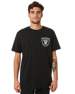 RAIDERS BLACK MENS CLOTHING MAJESTIC TEES - MOR7020DBBLK