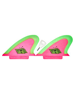 HOT PINK NEON LIME BOARDSPORTS SURF CATCH SURF FINS - HPSAFETWNHPNK