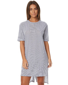 BLUE ESCAPE STRIPE WOMENS CLOTHING THE BARE ROAD DRESSES - 790341-02BES