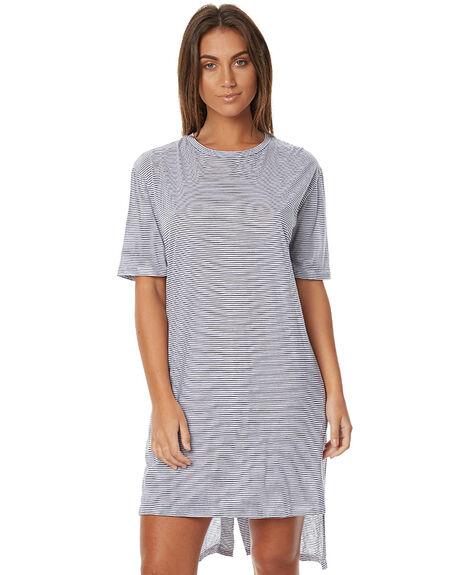 BLUE ESCAPE STRIPE WOMENS CLOTHING THE BARE ROAD DRESSES - 790341-02BES