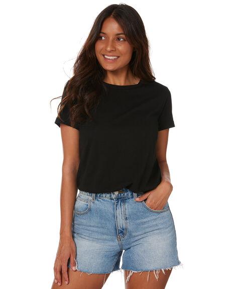 BLACK WOMENS CLOTHING SWELL TEES - S8211002BLACK