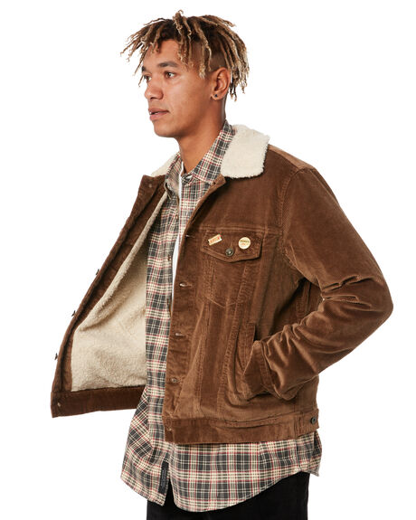 TOBACCO MENS CLOTHING DEUS EX MACHINA JACKETS - DMF206590TOBCO