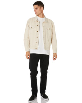 DIRTY WHITE MENS CLOTHING THRILLS JACKETS - TDP-231ADTWHT
