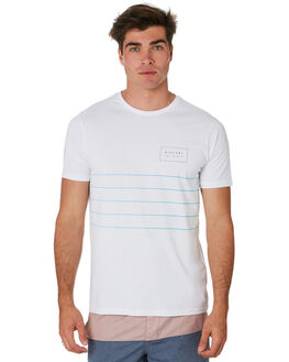 WHITE MENS CLOTHING RIP CURL TEES - CTETG21000