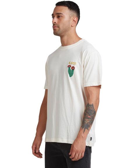 BLEACHED MENS CLOTHING RVCA TEES - R117055-B25