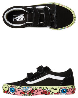BLACK MULTI KIDS BOYS VANS SNEAKERS - VNA38HDURXBLK