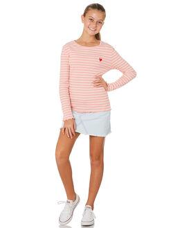 PINK WHITE STRIPE KIDS GIRLS EVES SISTER TOPS - 9530019STR