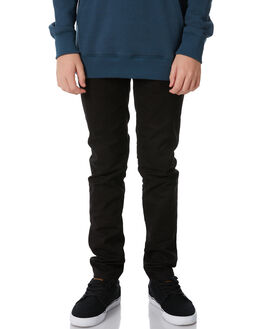 BLACK KIDS BOYS VOLCOM PANTS - C1111700BLK