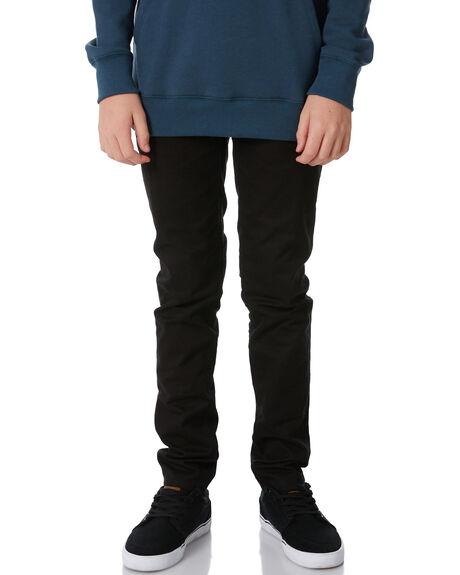 BLACK KIDS BOYS VOLCOM PANTS - C1111700BLK