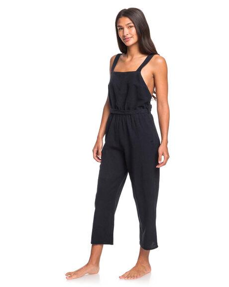 TRUE BLACK WOMENS CLOTHING ROXY PLAYSUITS + OVERALLS - ERJWD03405-KVJ0