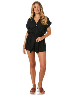 BLACK WOMENS CLOTHING THE BARE ROAD PLAYSUITS + OVERALLS - 990741-03BLK