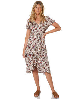 OASIS FLORAL WOMENS CLOTHING THE HIDDEN WAY DRESSES - H8203444OAFLO