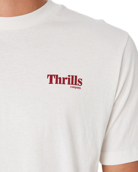 DIRTY WHITE MENS CLOTHING THRILLS TEES - TS9-108ADTWHT