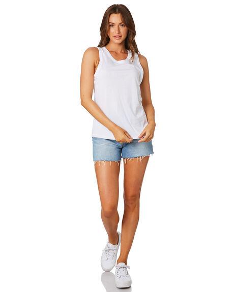 WHITE WOMENS CLOTHING AS COLOUR SINGLETS - 4004WHT