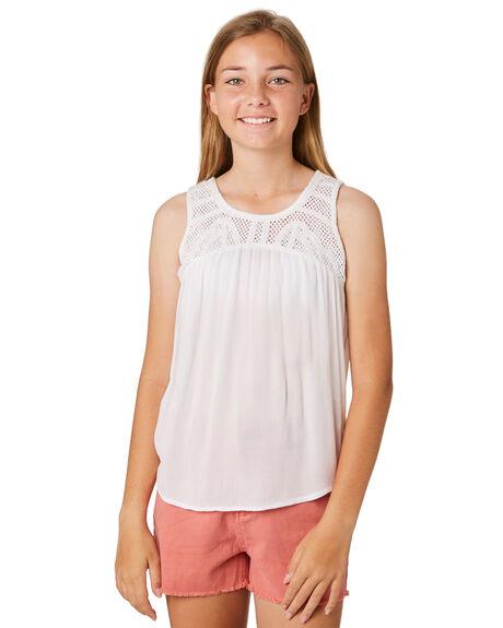 WHITE KIDS GIRLS RIP CURL TOPS - JSHAL11000
